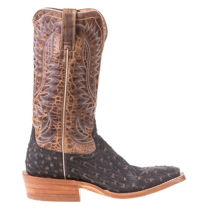 Men's Ariat Showman Mocha Full Quill Ostrich 13in. Dusted Wheat Cowboy Boot