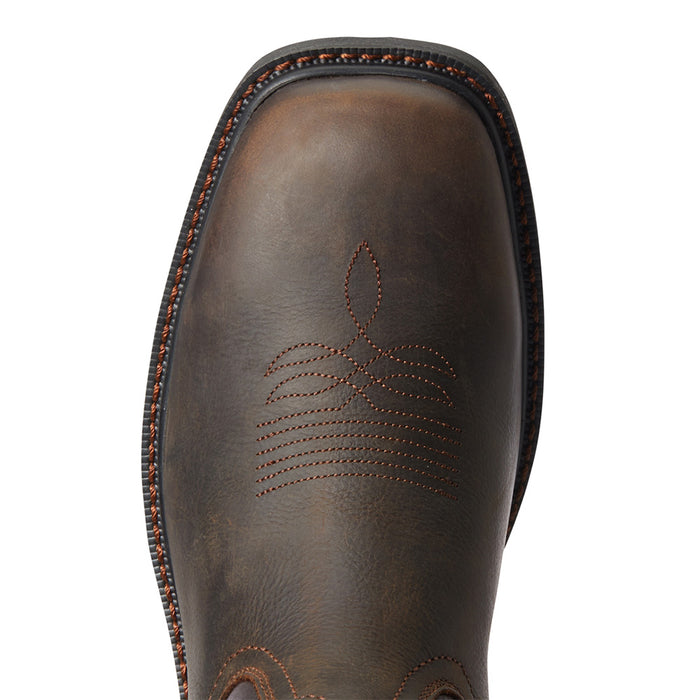 Men's Ariat Groundwork H2O Bitter Brown 11in. Brown Top Soft Wide Square Toe