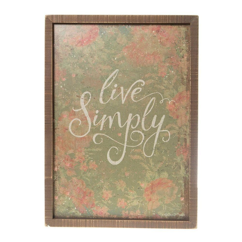 Inset Box Sign Live Simply