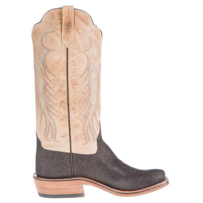 Women's Ride Ready Chocolate Elephant With Ivory Top Cowgirl Boots
