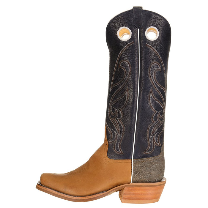 Men's Ride Ready HD Golden Tan 15in. Navy Bulldozer Top Cutter Toe Cowboy Boot
