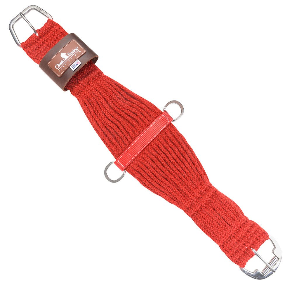 Classic Equine Mohair Red 27 Strand Roping Cinch