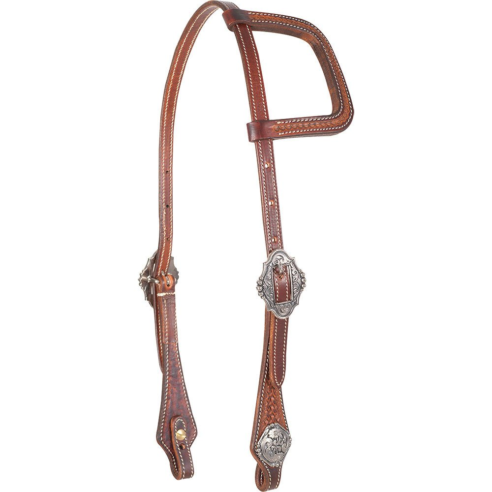 Mini Basket Weathered Antique Slip Ear Headstall
