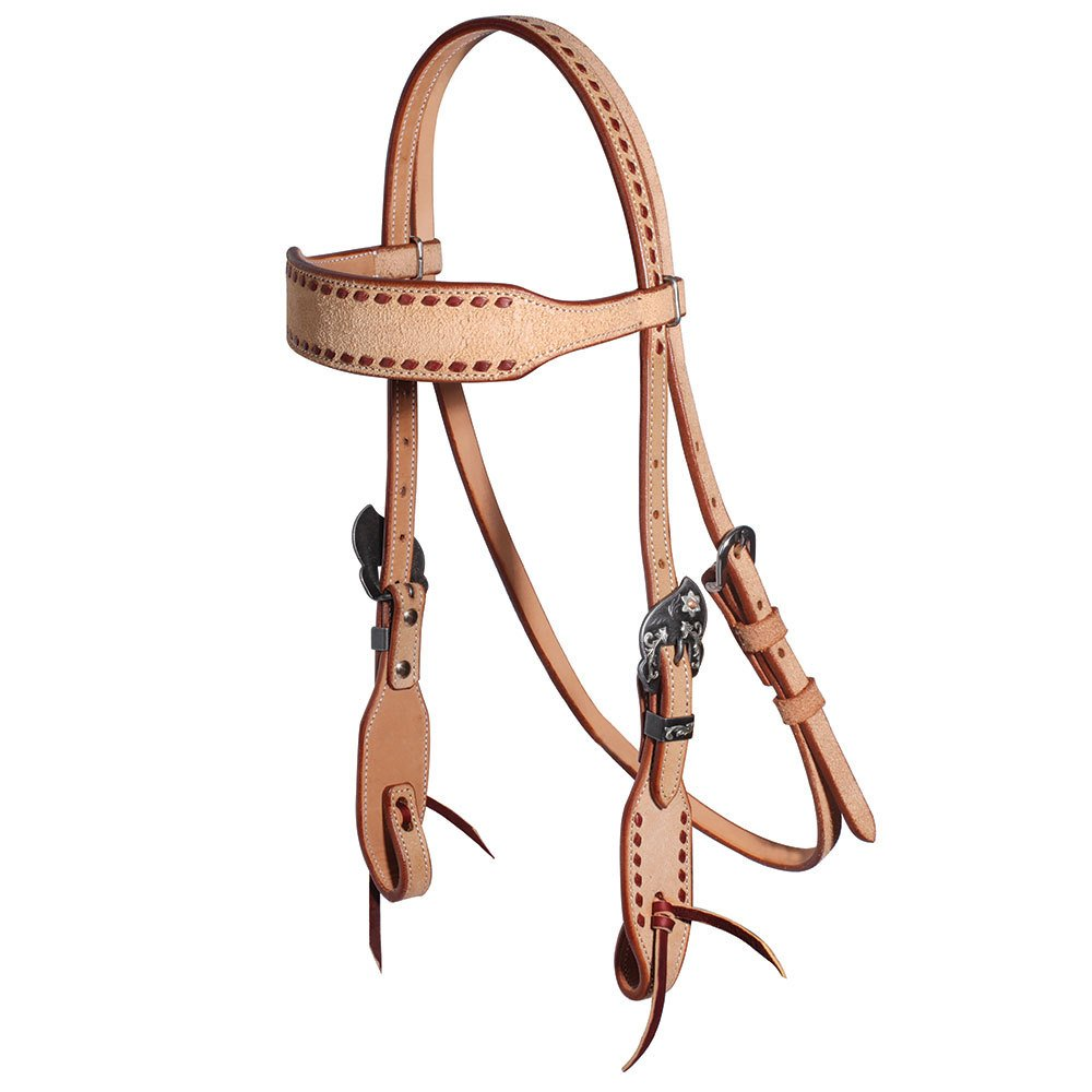 Professional's Choice Latigo Buckstitch Elvis Rough Out Browband