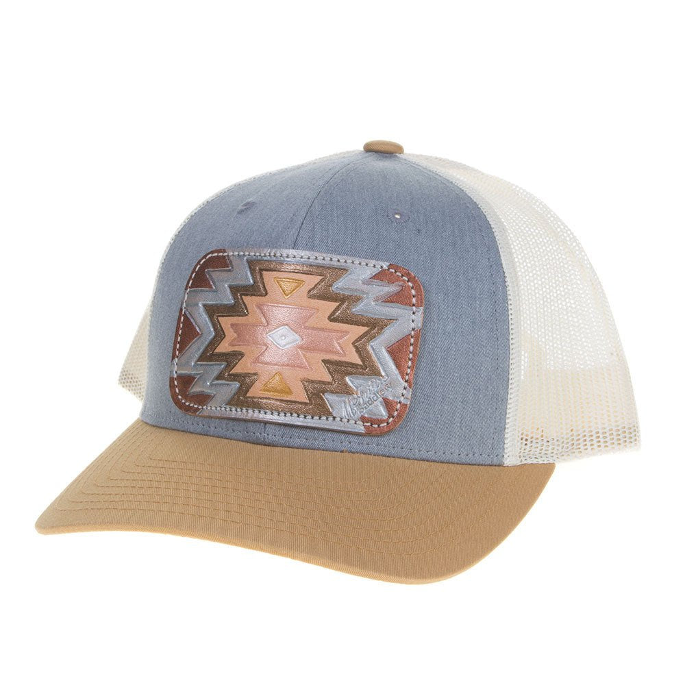 Womens Mcintire Saddlery Grey/Mustard Birch Metallic Aztec Cap
