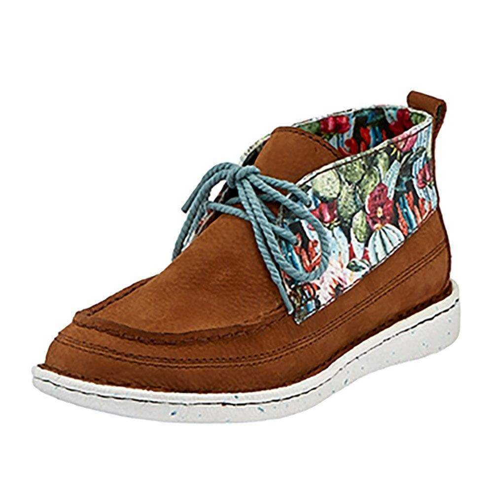 Ladies Justin Easy Rider Alley Pecan Multi Canvas Lace Up Shoe