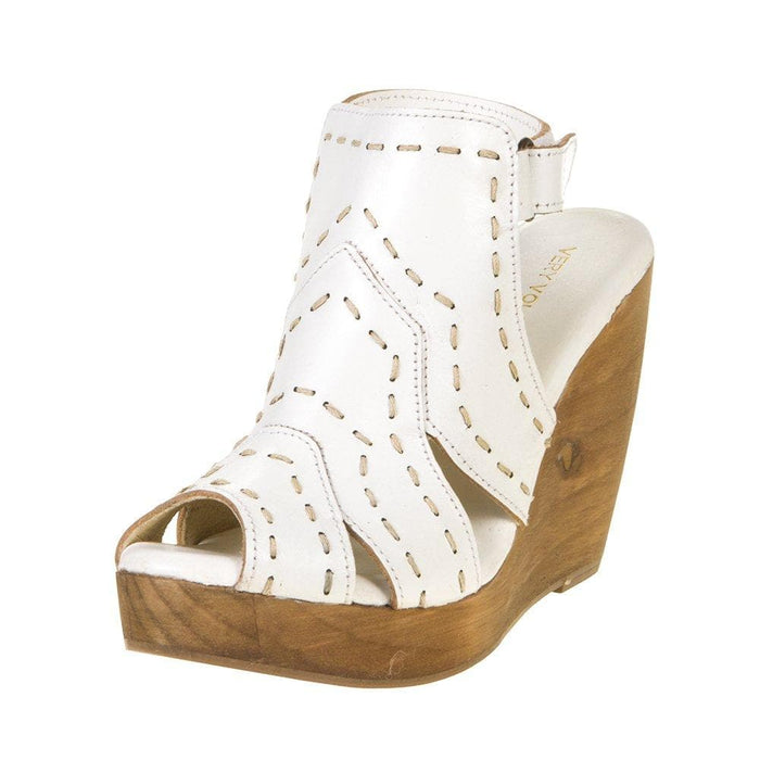 Womens Very Volatile White Wedge Sandals