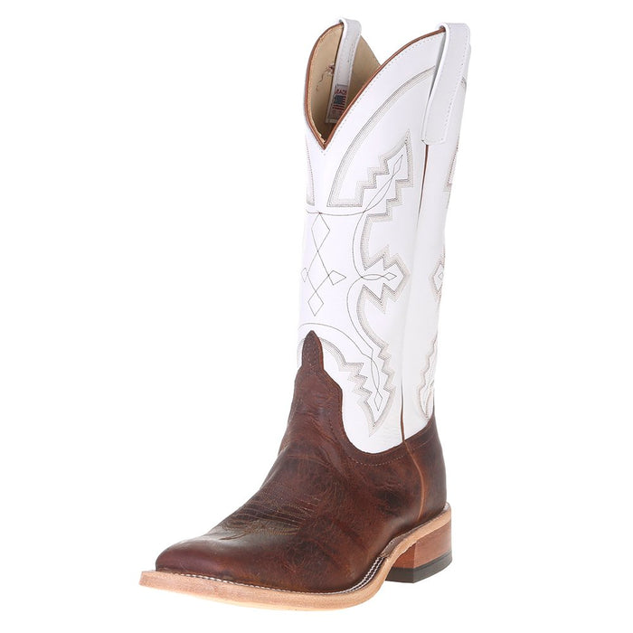 "Men's Anderson Bean Saddle Elk Butt 13"" White Glove Top Square Toe Cowboy Boot"