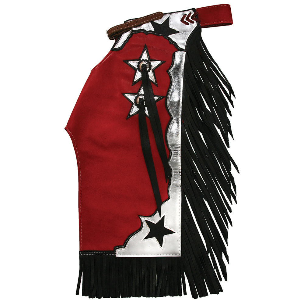 Junior Red and Silver Rodeo Chaps