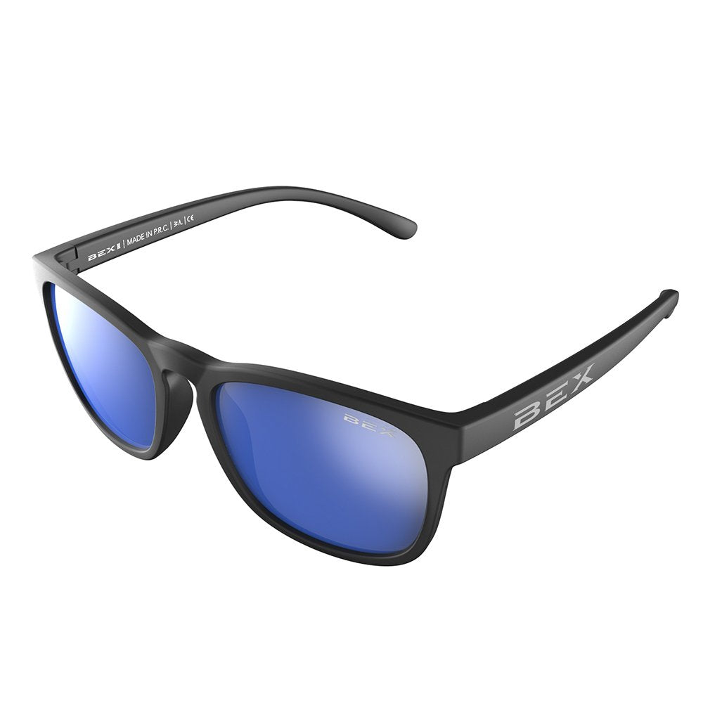 Youth BEX Baby Byrd Matte Black Frame w/ Blue Echo Lens