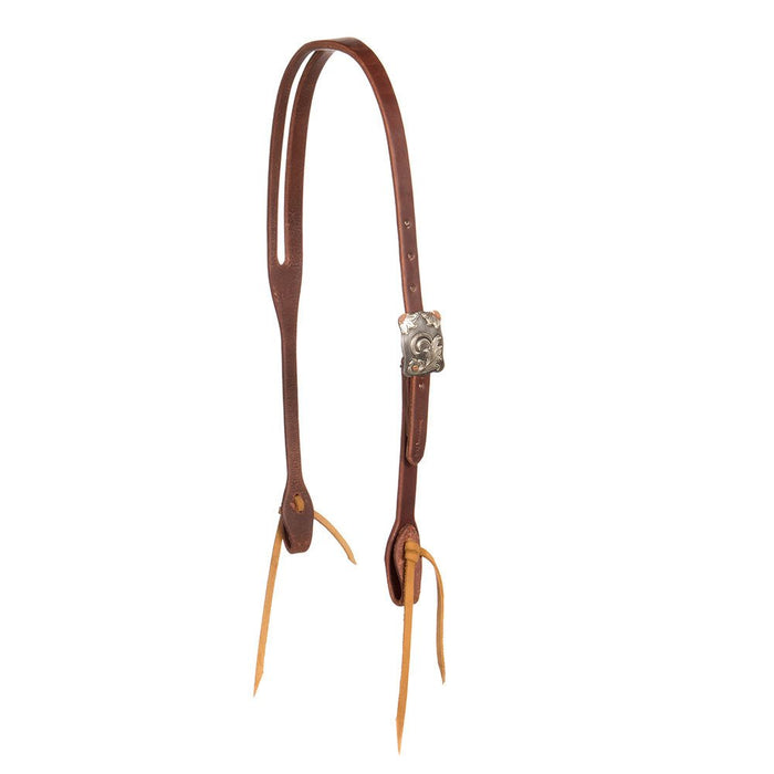 "Cowperson 5/8"" Floral Buckle Slot Ear Headstall"
