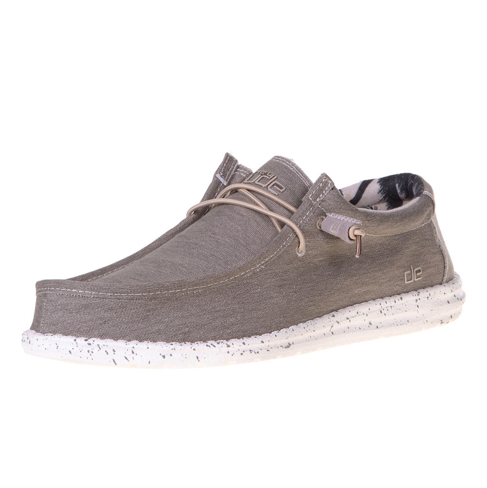 Men's Hey Dude Beige Wally Stretch Casual Shoes