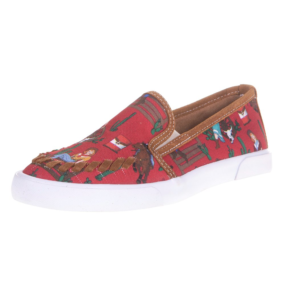 Women's Alice Red Cowgirl Slip On