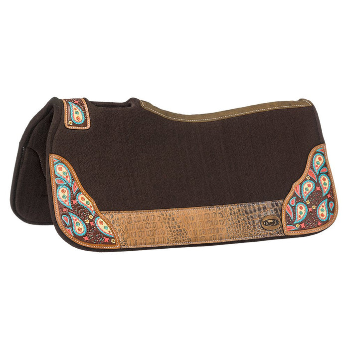 Tough-1 Hand Painted Paisley Saddle Pad