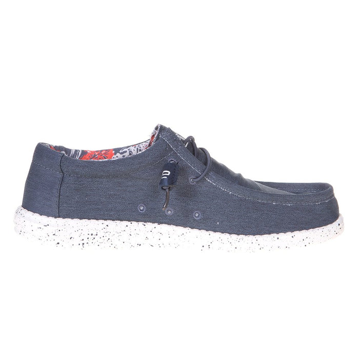 Men's Hey Dude Blue Wally Stretch Casual Shoe