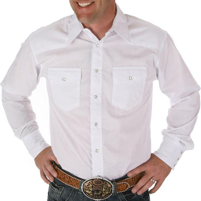 Men's Wrangler Pearl Snap Dress Shirt