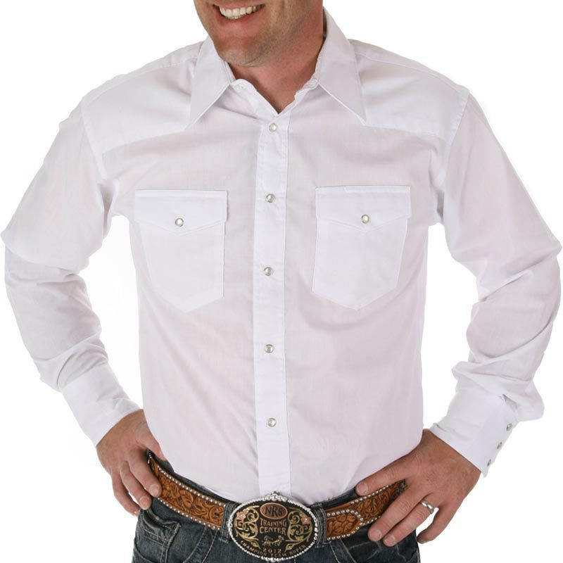 Men's Wrangler Pearl Snap Dress Shirt - Big/Tall