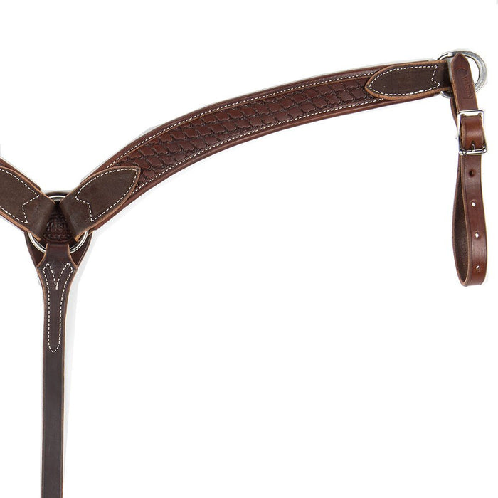 Martin Saddlery 1 3/4in Chocolate Twisted Wire Breast Collar