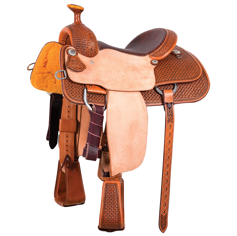Martin Saddlery Natural Antique 1/2 Breed Martin Basket Team Roper
