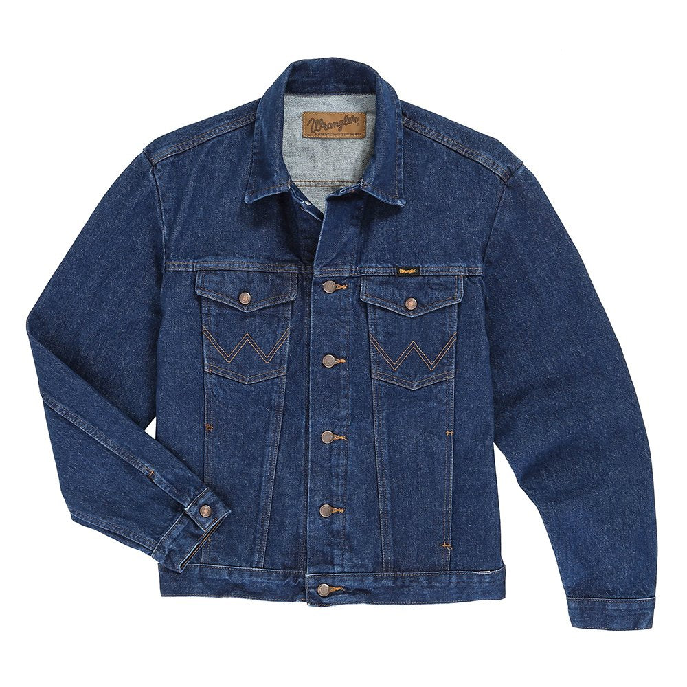 Mens Wrangler Pre-Washed Unlined Denim Jacket