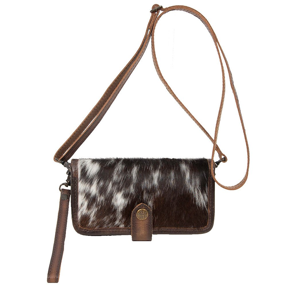 Ladies STS Cowhide Crossbody Wallet