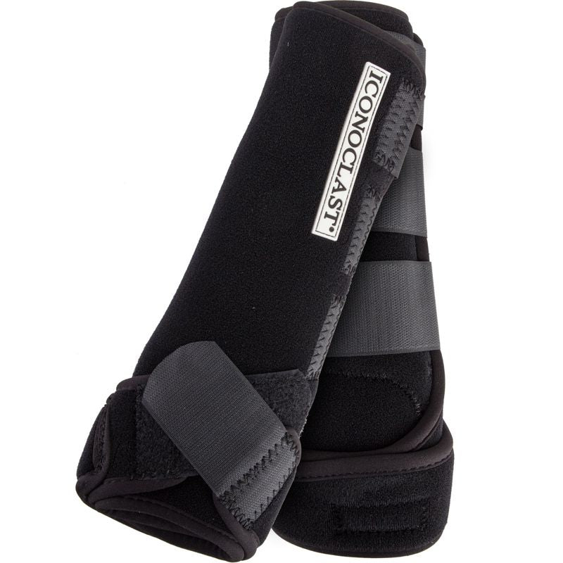 ICONOCLAST SPORTS EQUINE BOOTS COMPLETE FRONT BACK WHITE MEDIUM