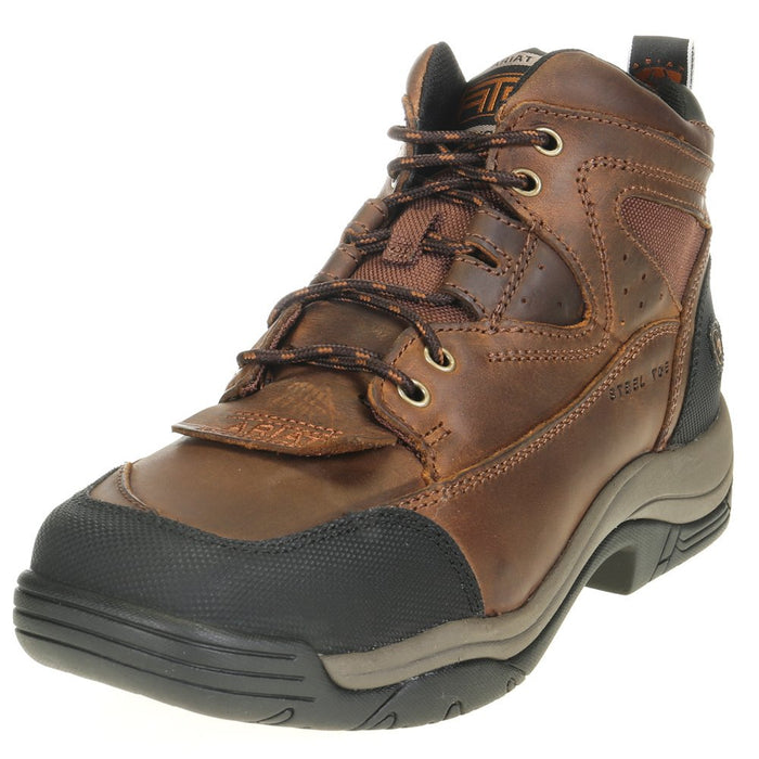 Men's Ariat Terrain Steel Toe Lace up Work Boot