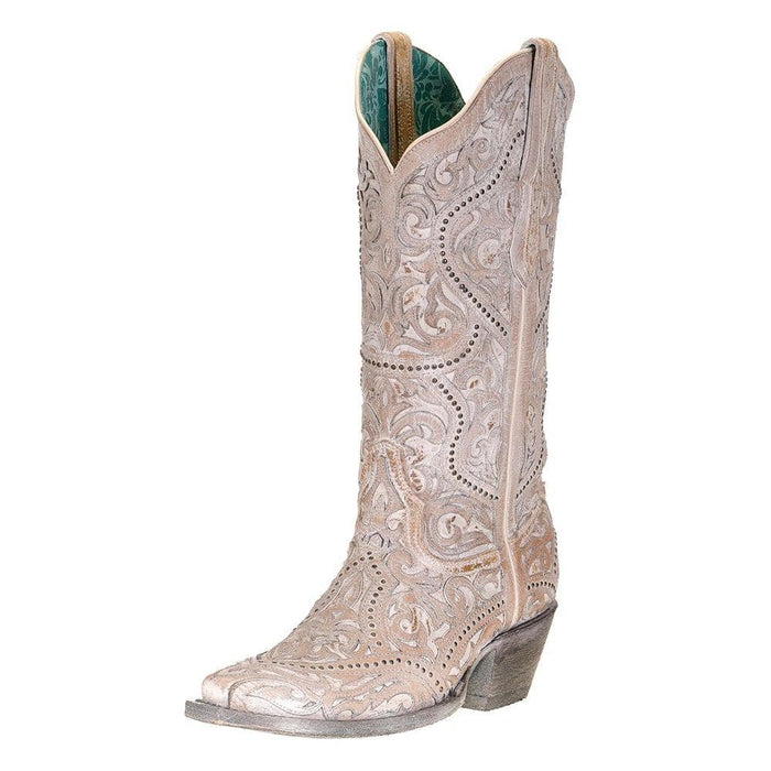 Women's Corral White Full Inlay Boots