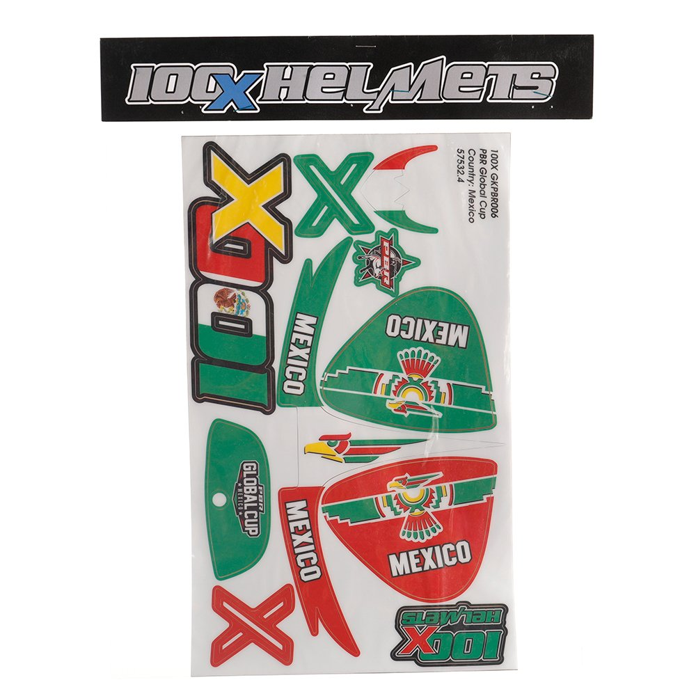 100 X Helmet Team Mexico Sticker Set