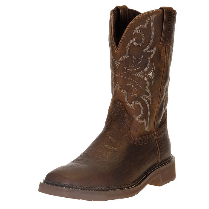 "Men's Justin Stampede Amarillo 11"" Cactus Top Soft Toe Work Boot"