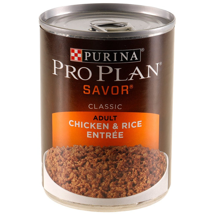 Purina Pro Plan Savor Chicken and Rice Canned Dog Food 13oz