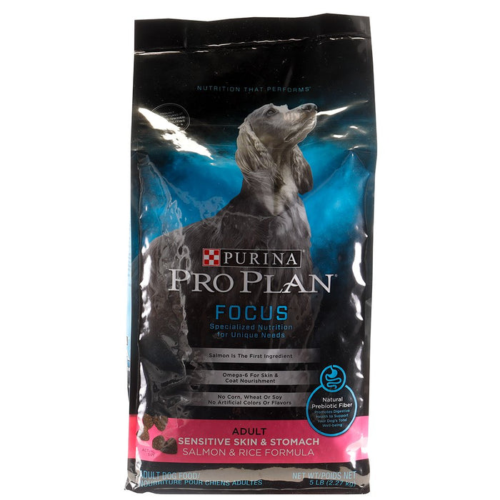 Purina Pro Plan Focus Sensitive Skin and Stomach Salmon and Rice 5lb
