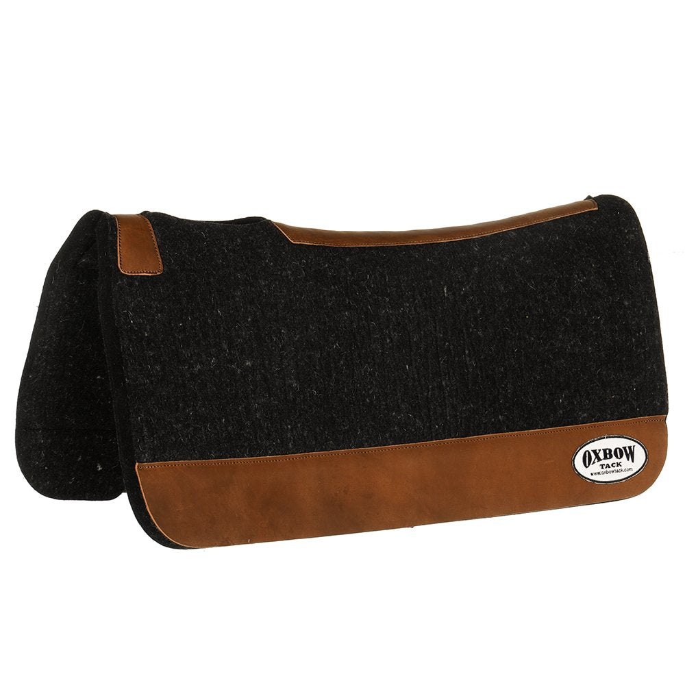 Oxbow Tack Black Wool Saddle Pad