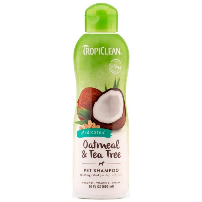 TropiClean Oatmeal Tea Tree Medicated Shampoo 20oz