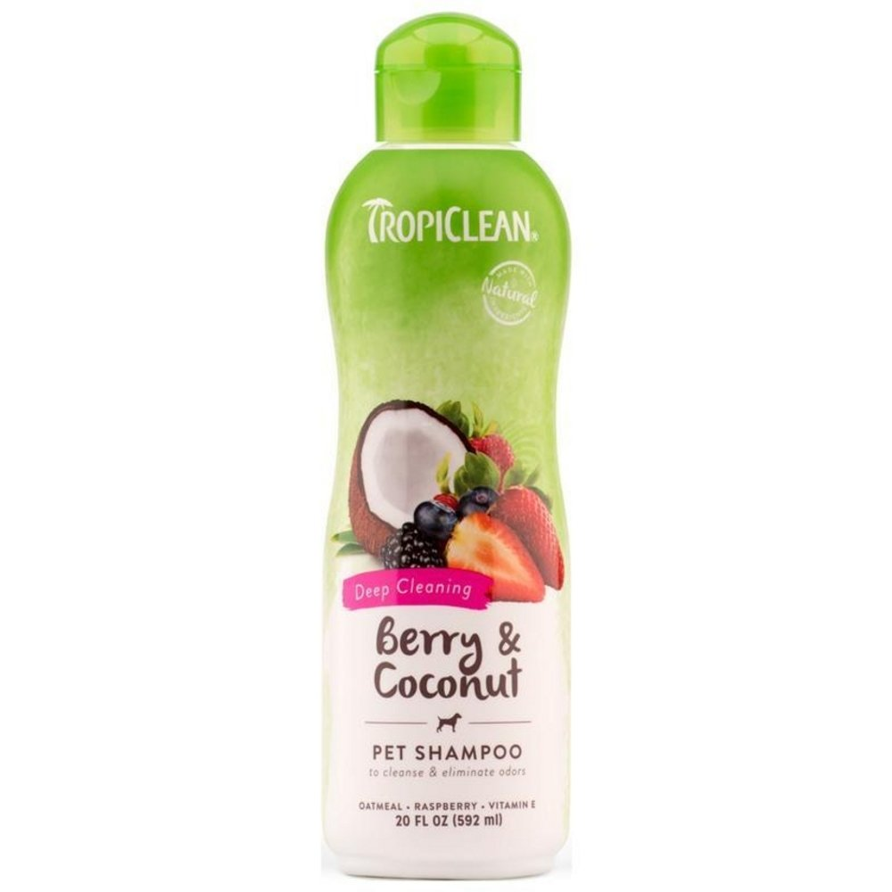 TropiClean Berry Coconut Deep Clean Shampoo 20oz