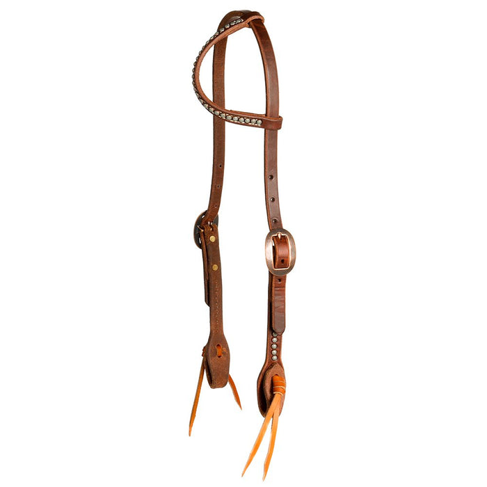 Cowperson Tack Copper Patina Dot Headstall