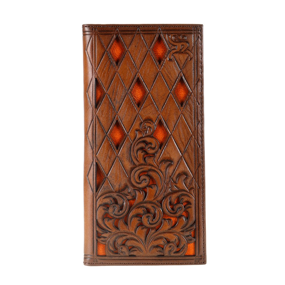 Roughy Signature Diamond Tooled Rodeo Wallet