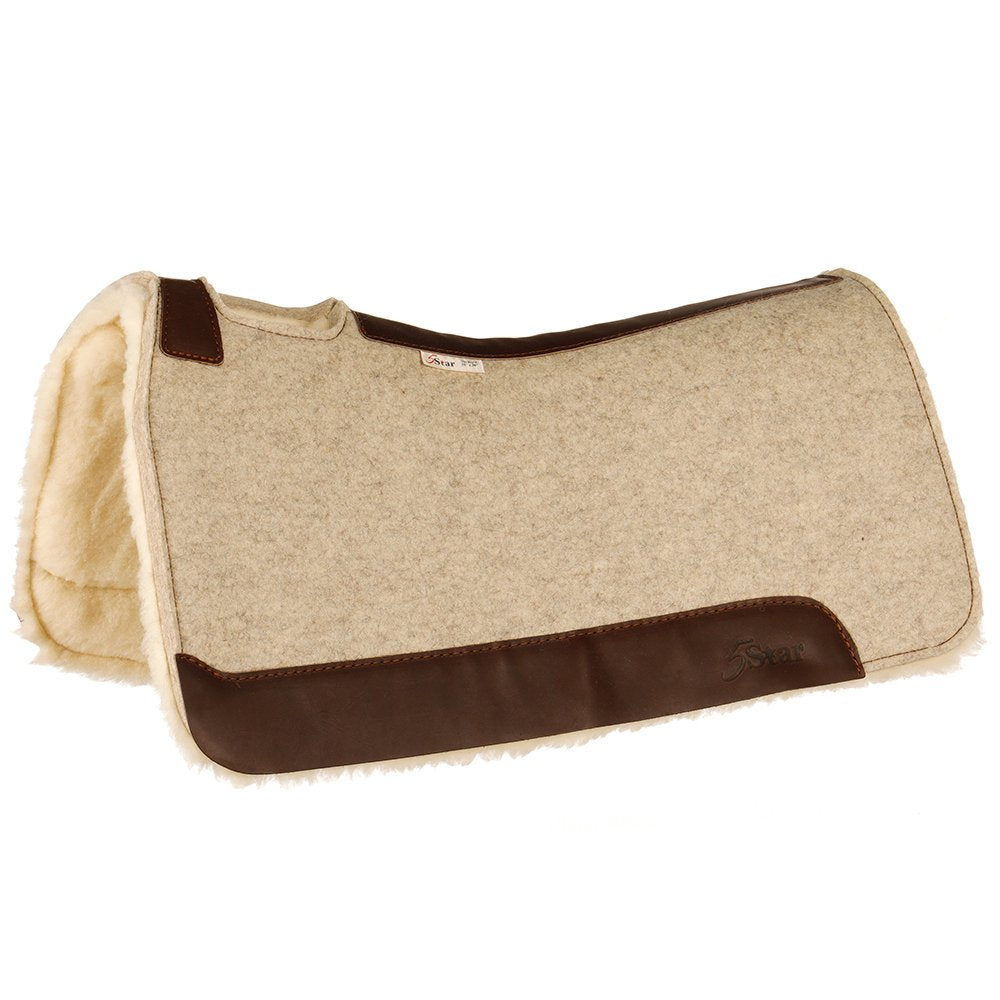 5 Star Roper 3/4 Inch Felt Plus 1/8 Inch Fleece Saddle Pad