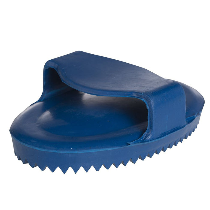 Junior Soft Rubber Curry Comb Blue