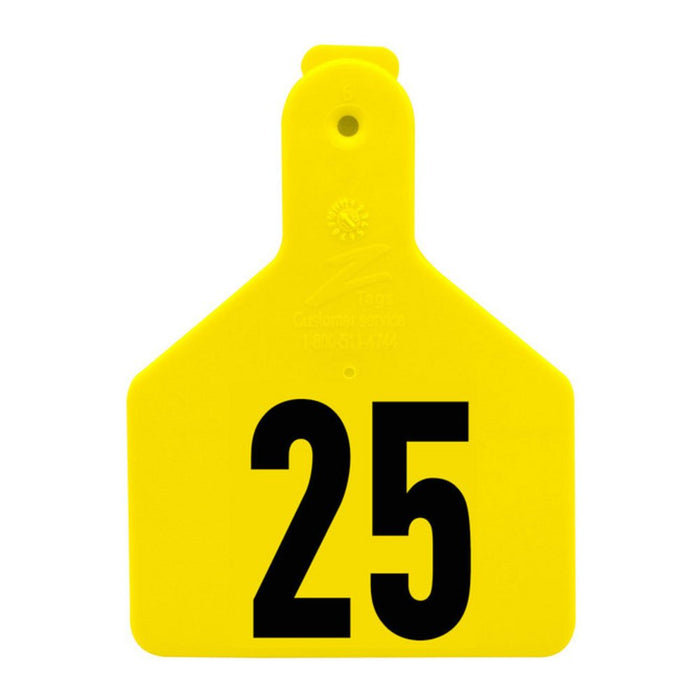 Z Tags 1-piece Yellow Calf Tag 1-25