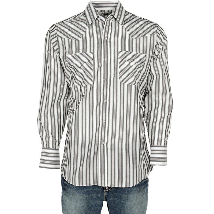 Ely Long Sleeve Light Striped Snap Shirt