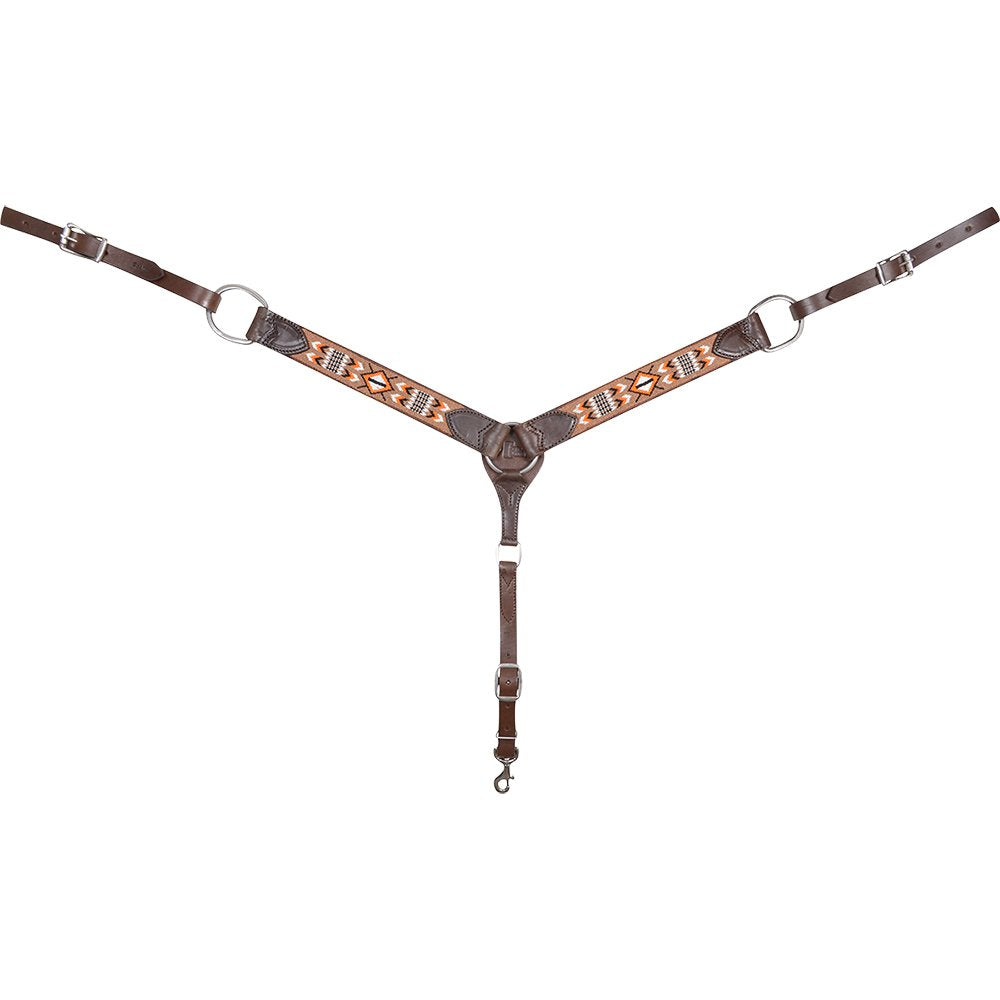 Cashel Tan/Orange Beaded Breast Collar