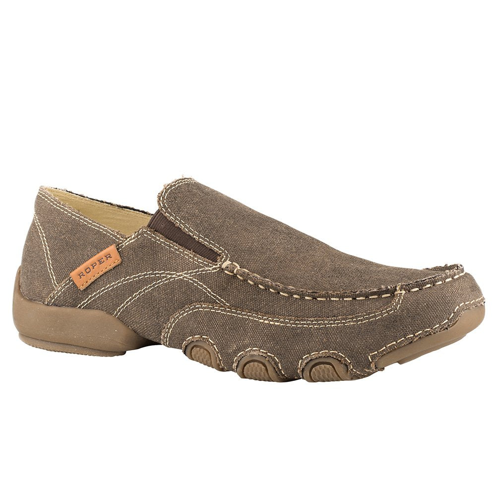 Men's Roper All Over Brown Vintage Canvas Shoe