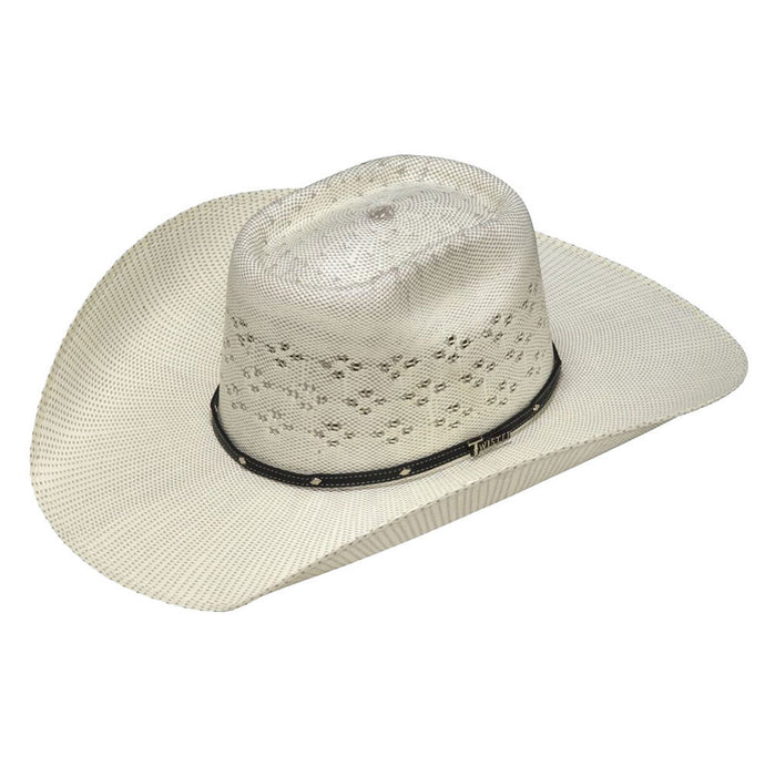 "Twister Bangora Ivory and Grey 4 1/4"" Brim Cowboy Hat"