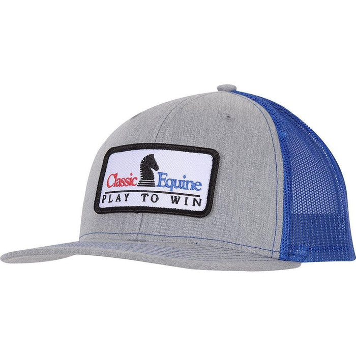 Classic Grey and Royal Embroidery Patch Cap