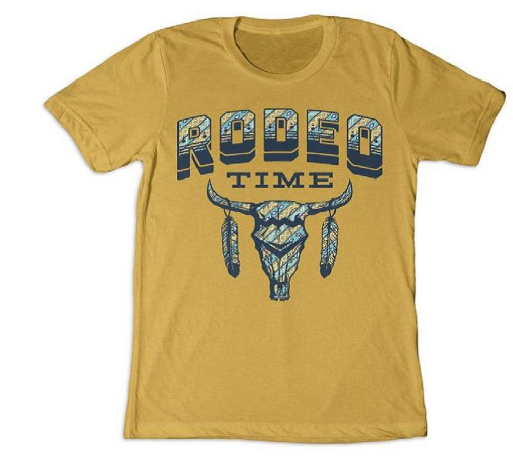 Dale Brisby Mustard Rodeo Time Tribal Tee