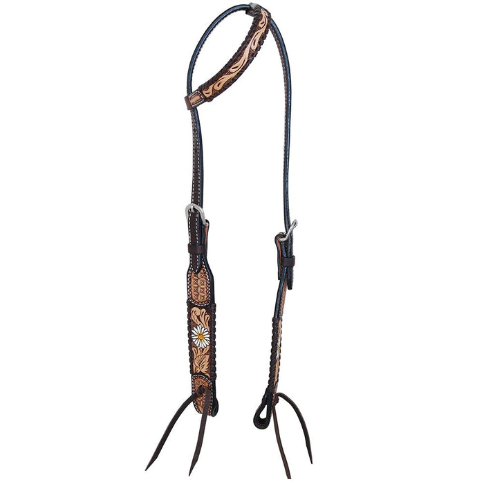 Rafter T Painted Daisy Single Ear Headstall