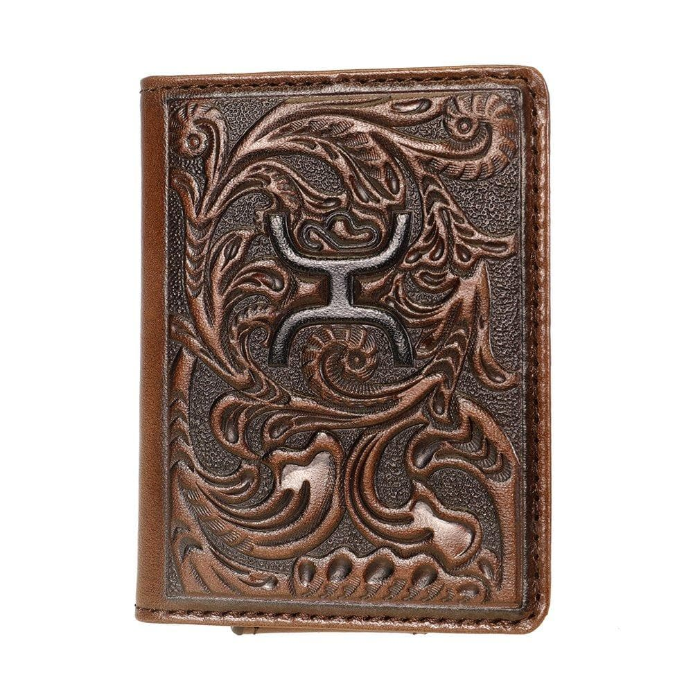 Hooey Leather Money Clip Card Holder