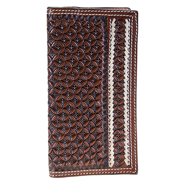 Leather Rodeo Wallet with Lace Detail