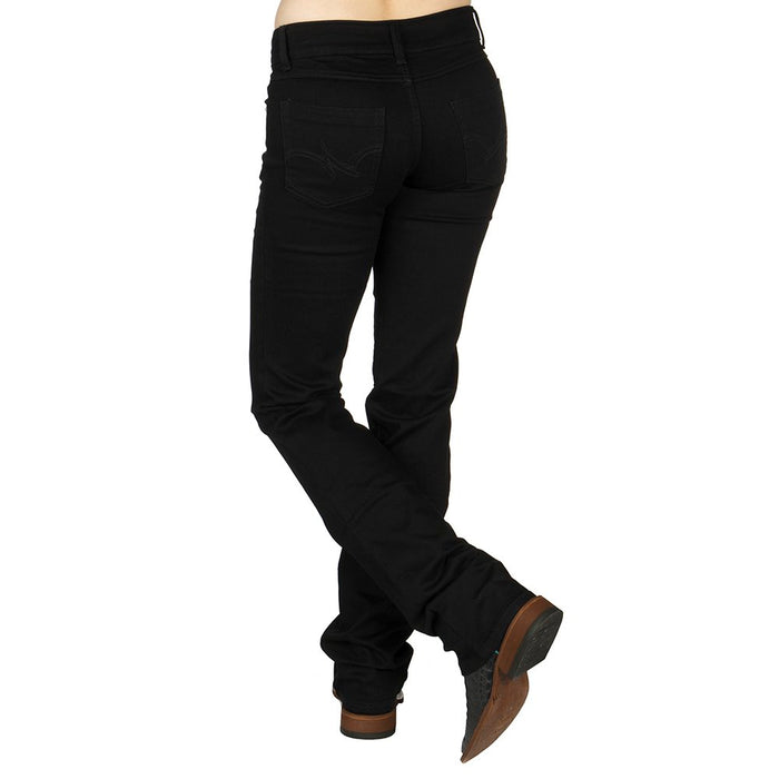 Women's Wrangler Black Boot Cut Jeans